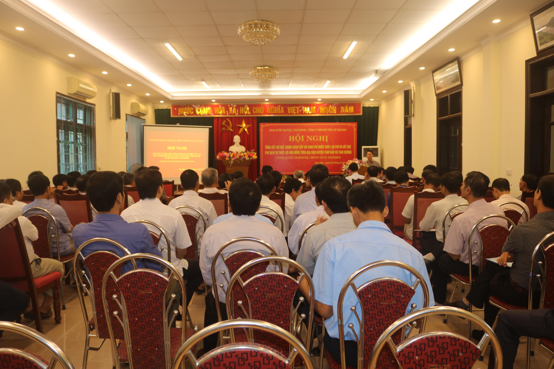 Hội nghị tổng kết cơ chế chính sách cấp bù thủy lợi phí và hỗ trợ phí dịch vụ thủy lợi nội đồng trên địa bàn huyện Tam Đảo, Tam Dương và Bình Xuyên